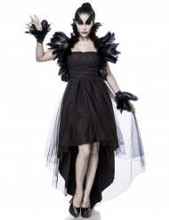 Disfraz bruja cuervo mujer