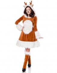 Disfraz reno lujo mujer