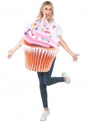 Disfraz cupcake con vitaminas rosa adulto