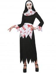 Disfraz monja ensangrentada mujer