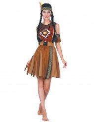 Disfraz india con flecos mujer