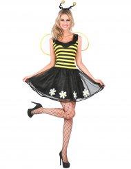 Disfraz abeja amarillo y negro mujer