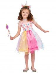Disfraz unicornio de colores niña