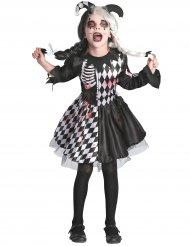 Disfraz de arlequín ensangrentado niña
