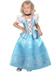Disfraz princesa azul y blanco niña