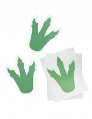 6 Pegatinas de dinosaurios verdes 18 cm