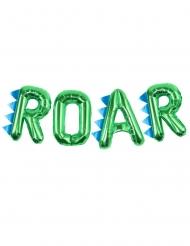 Globos aluminio letras ROAR verde metálico 40 cm