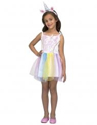 Disfraz vestido unicornio arcoiris niña