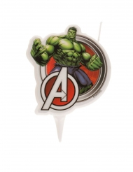 Vela de cumpleaños Hulk Avengers™ 7.5 cm