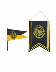 Bandera y banderín Hogwarts Harry Potter™