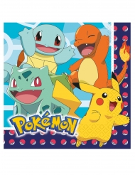 16 Servilletas de papel Pokemon™ 33 x 33 cm
