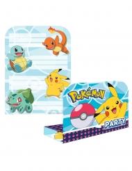 8 Invitaciones y sobre de Pokémon™
