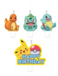 4 Velas de cumpleaños Pokémon