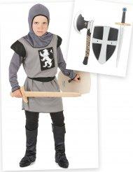 Kit disfraz caballero niño con accesorios