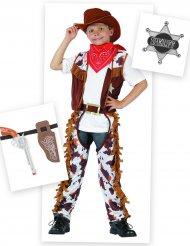 Pack disfraz cowboy niño con accesorios