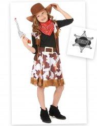 Kit disfraz vaquera niña con complementos