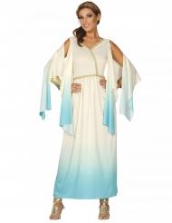 Disfraz diosa griega blanco y azul mujer