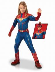 Disfraz de lujo Capitán Marvel™ niña