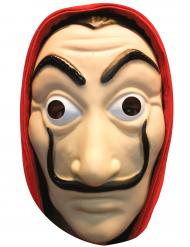 Máscara plana de cartón ladrón adulto