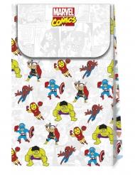 6 Bolsas de cartón premium Avengers™ pop comic 21 x 13 cm