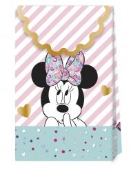 6 Bolsas regalo de cartón premium Minnie™ 21 x 13 cm