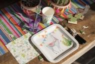 10 Platos de cartón Llama peruana