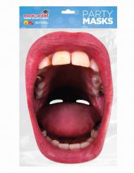 Máscara de cartón boca gigante con dientes adulto