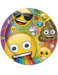 8 Platos de cartón Emoji™ Rainbow 23 cm