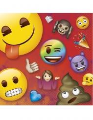 16 Servilletas de papel Emoji Rainbow™ 33x33 cm
