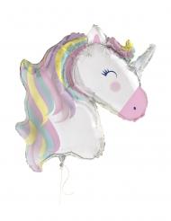 Globo aluminio gigante unicornio mágico 106 cm