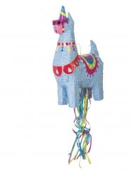 Piñata llama azul 50 cm