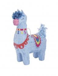 Mini piñata llama azul 16 cm