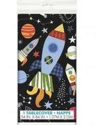 Mantel de plástico universo negro 137 x 213 cm