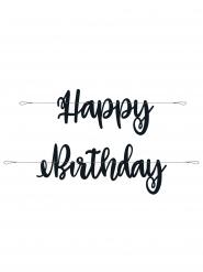 Guirlanda de cartón happy Birthday negro 2.13 m