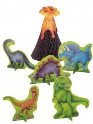 6 Centros de mesa de papel dinosaurios