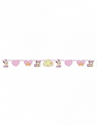 Guirlanda de cartón bebé Minnie™ rosa 150 x 13 cm