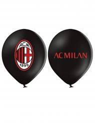 12 Globos de látex AC Milan™ 30 cm