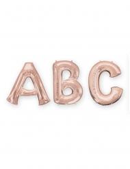 Globo aluminio letra rose gold 81 cm