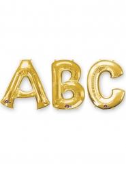 Globo aluminio letra dorada 86 cm
