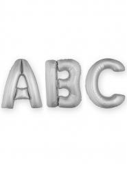 Globo aluminio letra plateada 1 m