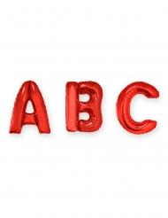 Globo aluminio letra roja 1 m
