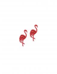 10 Confetis de madera flamenco rosa 4 cm