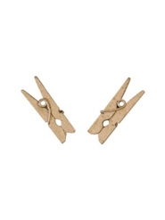 10 Mini pinzas para ropa de madera rose gold 2.5 cm