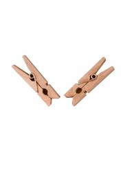 25 Pinzas para ropa de madera rose gold 6 x 3 cm