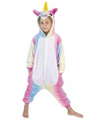 Disfraz mono unicornio arcoíris niño
