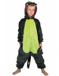 Disfraz traje dinosaurio verde niño