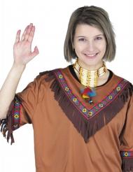 Collar indio con plumas adulto