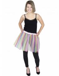 Tutú bailarina multicolor pastel adulto