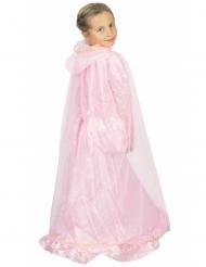 Capa princesa rosa y dorado niño