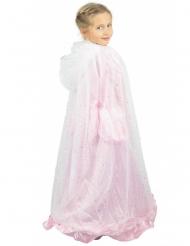 Capa de princesa blanca y plateada niño